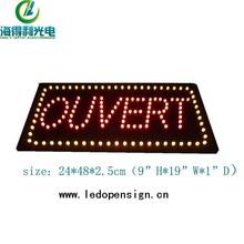 Hidly batteriebetriebene led elektronische acryl schild für shop-display ouvert