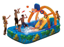 HIGH quality Inflatable Pool with Slide and Basketball Bouncer Kids Water Park Home Backyard Swimming Pool