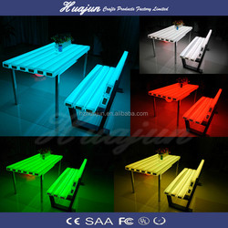 2015 led white plastic outdoor table and chair