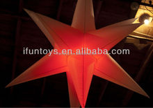 led inflatable star/led inflatable lighting star/inflatable hanging led star