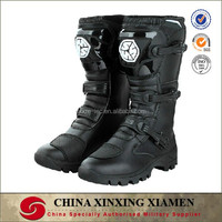 New Arrivals High Quality In Stock Tanked Off-road Vehicle Boots Black Men Cool Shoes For Motorcycle Racing