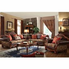 clássico de madeira estrutura de sofá de couro