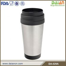 Double wall mug plastic inner with screwed off lid