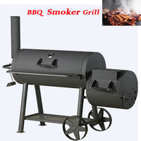 Offset Smoker Gourmet Deluxe Charcoal Grill for garden
