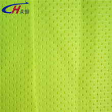 120 gsm 58/60'' width yellow or orange safty mesh outdoor light warp knitted fabric for flag