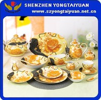 61pcs Exquisite full decal design China porcelain dinnerware sets