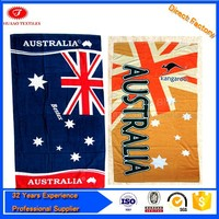 custom printed flag beach towel for promotion