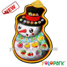 muñeco de nieve musical tapete de juego para los niños