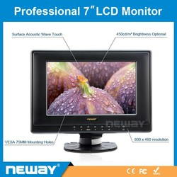 7 inch 400cm/m2 touch screen lcd monitor, car monitor, tft lcd module