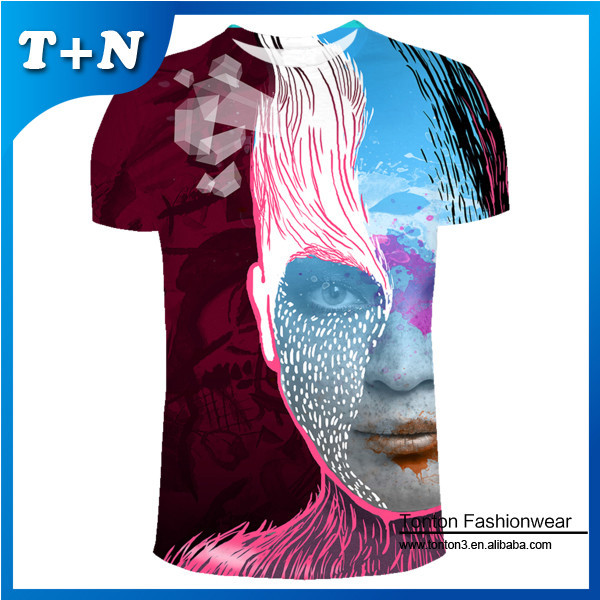 Custom Made Full Printing Dye Sublimation T Shirt Printing