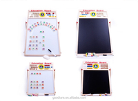 Big And Medium Size Magnetic Blackboard And White Board With Standing Rack With Magnetic Alphabet Pieces And Mathematic Pieces,