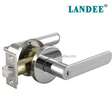 Lever handle door lock acabado polonês chrome