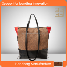 2015 fashion women brown suede bucket handbag
