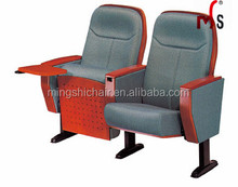 Most Popular Solid Wood Auditorium Chair for sale floor mounted church seating and coference room meeting chair