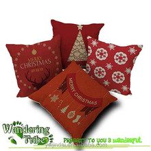 Wholesale 2015 Christmas Gift Cushion Cover Cute Sofa Cushion Cartoon Pillow Cover