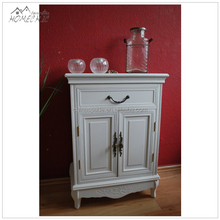 Custom two-door white hallway storage wood cabinet
