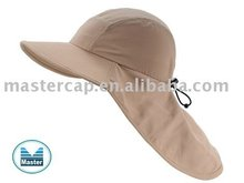 UVP 50+ Microfiber Outdoor Tippet Hat with Print Logo