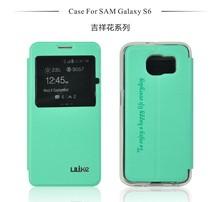 Made in china teléfono móvil funda de cuero para samsung galaxy s6