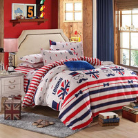 hot new products for 2015 British style reactive printed home choice bedding cotton bedding set with masha and bear