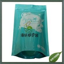 aluminum foil standup resealable plastic bag for pearl powder packing