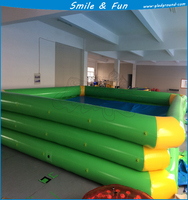 Inflatable pool size 5*6*0.5m pvc tarpaulin 0.9mm with one CE blower