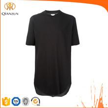 Cheap Plain Black T-shirts, New Style Men Plain Long Length T-shirts