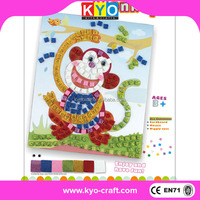 DIY Mosaic Conffetti 3D Paper model toy Cardboard puzzle craft for kids