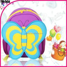 new arrival Neoprene children butterfly cute backpack bag