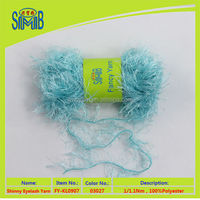 2015 fashion line shop new roll out solidcolor polyester yarn feather in Trade Assurance