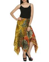 Chicas sexy usar midi falda de flores, hermosa falda hecha a mano, falda tradicional