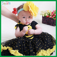 2015 Hot Sale Baby Girls Birthday Party Dress for kids