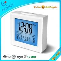 Sunny Acrylic Weekday Desk Alarm Clock