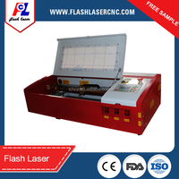 2015 highest model Fl-k40 40W acrylic/wood/rubber stamp laser engraving cutting machine with Ruida controller