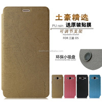 2015 Newest mobile phone YUSI flip leather case for samsung galaxy On5 galaxy on