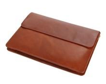 8038B Classic Brown Vintage Leather Mini Wallet Men's Purse Key Case Unisex Hand Bag Fit For Mini Ipad