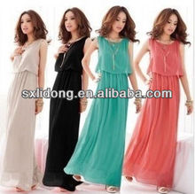 Latest Bohenmia Pleated Maxi Long Chiffon Dresses