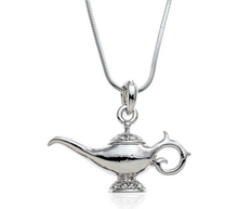 Unqiue Silver Plated Genie Magic Lamp Pendant Necklace,Latest Necklace Design