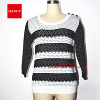 Fashion PatternJacquard Acrylic Wool Round Neck Pullover Women's Sweaters 2015
