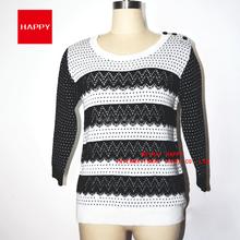 Fashion PatternJacquard Acrylic Wool Round Neck Pullover Women's Sweaters 2015