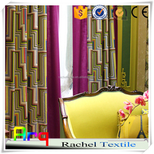 New multi color creative abstract fashion pattern printed curtain design in living room/beddroom with bright color