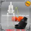 empty 10ml PET nicotine liquid drip vial with childproof and tamper evidence cap
