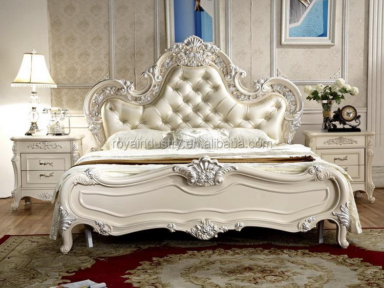 King size de madera maciza mano  tallado antiguos muebles de ...