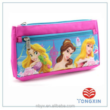 2 zipper 2 layer 600D pencil bag