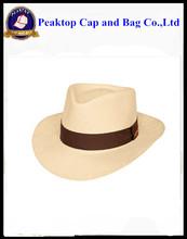 Wholesale Custom Logo Band Straw Fedora Hat