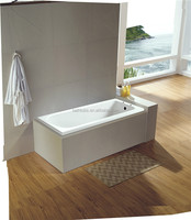 cUPC rectangle pedestal soaking tub,built in tub with handles,plastic square water tub