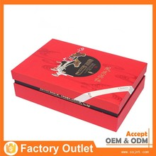 luxury empty tea paper storage box with tin box and paper bag