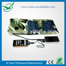 Newest 5000mah 12v 10w portable solar panel charger battery power for charging mobile phone with foldable solar panel 5W