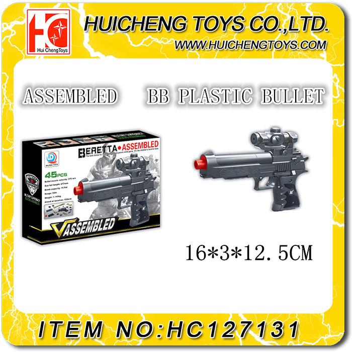 جودة عالية آمنة 45 قطع كتلة تجميعها لعبة بندقية للأطفال أفضل هدية المخابرات للبيع
