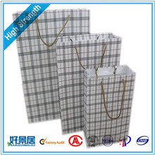 cheap warp and weft paper material bags with rope handle soap paper bag / paper bag for charcoal / customized paper gift bag