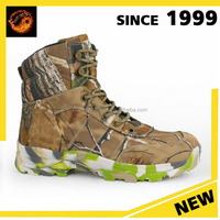 China wholesale high quality footwear Genuine leather Camouflage pattern combat boot for men military boot